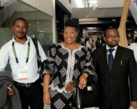 "Mr Samuel Alli, founding Director, Afroscandic with Yvonne Chaka Chaka ""Princess of Africa"""