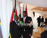 Mr. Tshepo Mogotsi, Minister counsellor, Embassy of Botswana, Sweden with Mr. Samuel Alli, CEO, Afroscandic