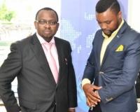 Mr. Samuel Alli, Publisher Afroscandic and Mr. Eric