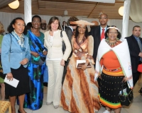 Ambassador Frances Rodrigues of Mozambique,Ambassador Venatia Sebudandi of Rwanda,Swedish Minister for International Development Cooperation, H.E. Ms. Isabella Lövin, Ambassador Mandisa Dona Marasha of South Africa