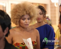 A member of African Fashion show Sweden