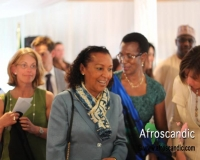 Ambassador Frances Rodrigues of Mozambique,Ambassador Venatia Sebudandi of Rwanda,Swedish Minister for International Development Cooperation, H.E. Ms. Isabella Lövin,