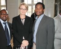 Samuel O. Alli, CEO Afroscandic, Birgitte Markussen, Lawrence Owonifari