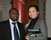 Samuel O. Alli, CEO Afroscandic & Amira Saoussen AOUACHRIA
