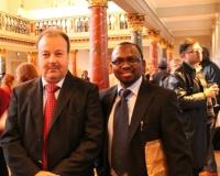 H.E. Abdelhamid Boubazine, Algerian Ambassador, Denmark  & Samuel O. Alli, CEO Afroscandic