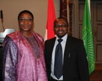 H.E. Ambassador Monique Ilboudo of Burkina Faso, Denmark & Samuel O. Alli, CEO Afroscandic