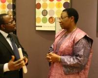 Ambassador Monique Ilboudo of Burkina Faso & Samuel O. Alli, CEO Afroscandic