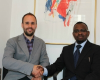 Samuel Alli, CEO Afroscandic and Nicholas Enersen, Ministry of Foreign Affairs of Denmark,