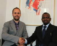 Samuel Alli, CEO Afroscandic and Nicholas Enersen, Ministry of Foreign Affairs of Denmark