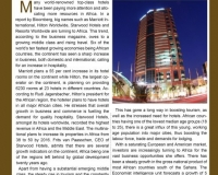 African Countries enjoy a Boost in Top Class Hotel Infrastructures