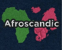 Afroscandic embroidered logo for clothing