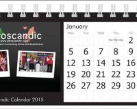 Afroscandic desk calendar 2015