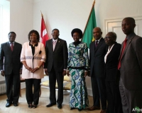 Some members of the delegation during a visit to the Embassy of Benin in Denmark