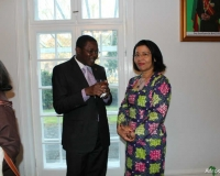H.E Mr Nassirou Bako-Arifari, Minister of Foreign Affairs of Benin with H.E. Madame BALDE LAURENT MINA, Ambassador of Cote d'ivoire in Denmark