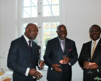 1st right, Mr Jean-Baptiste Satchivi, President of the Chamber of Commerce and Industry of Benin (CCIB), 1st left Ambassador Danny M. Ssozi, the Deputy Head of Mission, Embassy of Uganda,Denmark