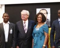 Lawrence Owonifari, H.E. Axel Juhl-Jorgensen and Assetou Sidibe Eriksa