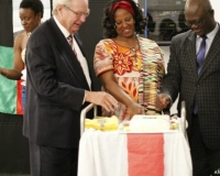 H.E. Axel Juhl-Jorgensen of Cameroon in Denmark, Ms. Margaret Otteskov of Embassy of Uganda, Denmark and Mr. Yakubu Alhassan, Embassy of Ghana, Denmark