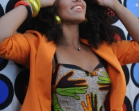 Elle varner wears a beautiful kente and african outfit on the set of new video