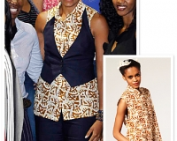Michelle Obama in an African attire