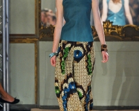 Simonetta Ravizza wears an African attire summer-2012-collection
