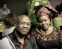 Mrs Kikelomo Ayoola and husband at Deacon Samuel Oluware 50th birthday, in Guthenburg, Sweden