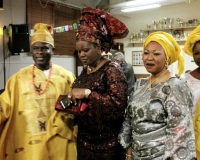 Deacon Samuel Oluware, his elder sister Mrs Kikelomo Ayoola and Mrs Mary Ogunsakin