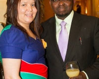 Mrs. Esme Beukes and Mr. Samuel Alli, Publisher, Afroscandic