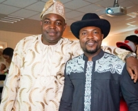 Daniel Ayodeji Olupona, the President of NAT( Nigerian Association Trondheim) & Jovitus Eze