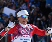 marit bjoergen in sochi 2014 winter olympics