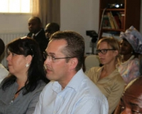 The congregation at Victory Chapel Ministries International, Denmark
