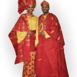 African couple in traditional wedding attire