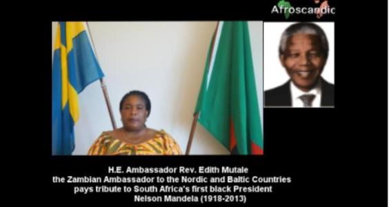 Ambassador Rev. Edith Mutale paid tribute to Nelson Mandela