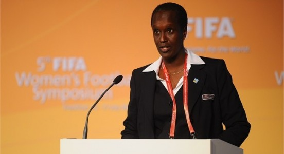 first female member in the Federation of International Football (FIFA) Executive