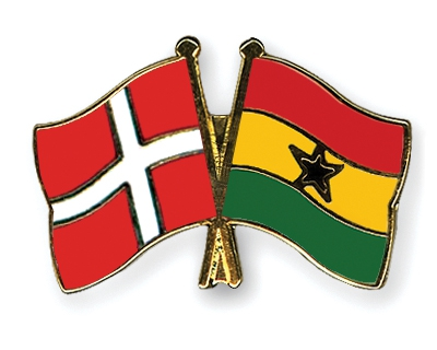 Danish and Ghanian flags
