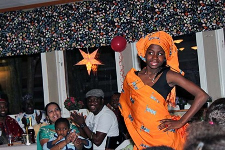 Afro-Scandinavian kids showcased the yoruba traditional wear from Nigeria