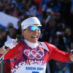Marit Bjoergen of Norway wins the women's cross-country 30 km at the Sochi 2014 Winter Olympic Games