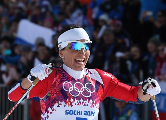 Marit Bjoergen, in Sochi 2014