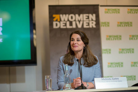 Melinda Gates, wife of Bill Gates and co-founder of the Bill & Melinda Gates Foundation, at the 4th Women Deliver Conference in Copenhagen, Denmark