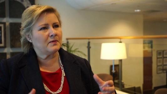 Norwegian woman prime minister, Erna Solberg