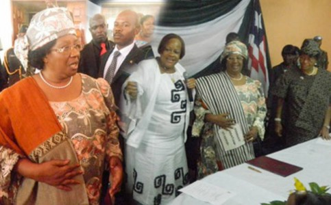 President Joyce Banda, during a visit to Liberia