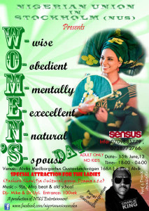 Nigerian Union in Stockholm, Women`s Day Celebration 2013