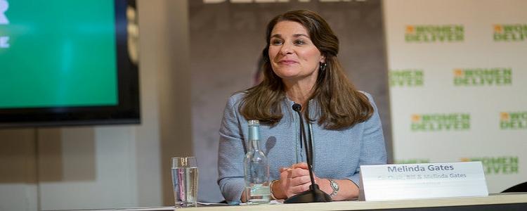 Melinda Gates donates at Women Deliver 2016