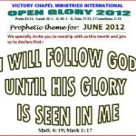 Victory Chapel Ministries International, Denmark : Prophetic theme