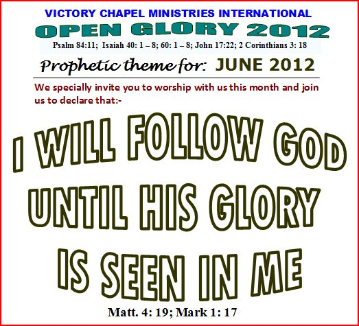 Prophetic theme for June 2012